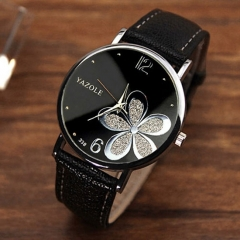YAZOLE Ladies Wrist Watch Women Brand Female Quartz Watch Hodinky Quartz-watch Montre Femme YZL338 Black Black White