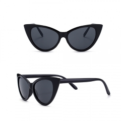 Women Mod Chic Super Cat Eye Sunglasses Vintage Fashion black 001