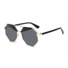 Fashion Oversized Retro Vintage Circle Round Sunglasses for women UV protection brown 001