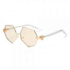 Cat Eye Sunglasses Women Mirrored Lenses Metal UV 400 Fashion Glasses orange 001