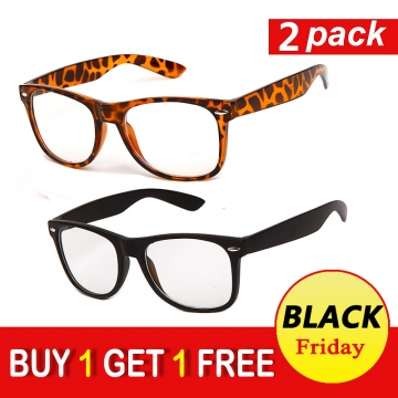 Computer Gaming Reading Glasses with Magnification and Anti Blue Light Anti Glare UV400 black+black 001