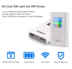 5200 MAh Power Bank 4G Wifi Router Portable Dongle Wireless Modem With SIM Card Slot RJ45 Port