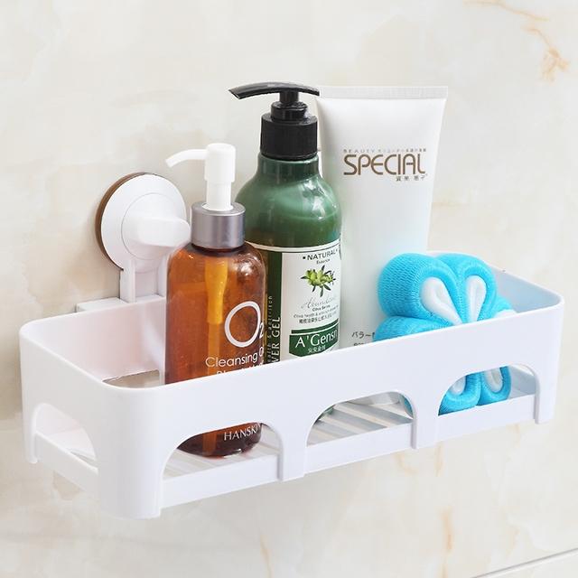 Bathroom Suction Cup Shelf Organizer Rack Holder Shower Storage one colour onesize
