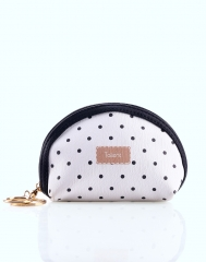 Valentines gift Women's Change Bag Chic Fashion Simple Dots Pattern Poratble Waterproof Bag as picture one size