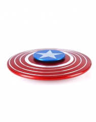 Valentines gift Kid's Interesting Toy Cool Red Shield Fingertip Spinning Top Recreational Toy as picture one size