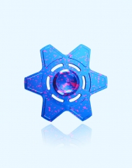 Valentines gift Kid's Toy Hexagonal Shape Fingertip Spinning Top Recreational Toy as picture one size
