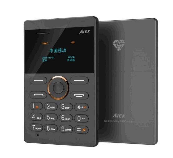 mini Cell Phone Student Version ultra thin mini credit card Mobile phone FM Radio Bluetooth black