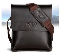 Men's Bag Business Shoulder Bag Men's Briefcase Leisure Bags Pu leather Shoulder Bags brown small vertical middle