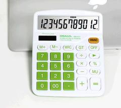 BS Plastic 12-bit Display Color Calculator with Solar Dual Power Supply