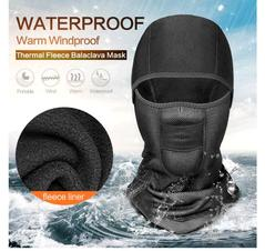 Black Unisex Winter Warm Hat Motorcycle Waterprrof Windproof Face Mask Hat Neck Helmet Beanies black