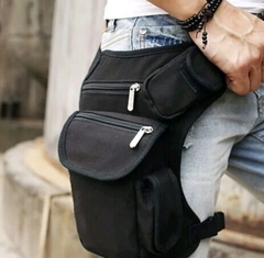 New Hot Cycling canvas leg bag outdoor tactical multi-functional leg bag men's bag recreational black middle