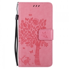 HTC One M8 Case,Premium PU Leather Flip Wallet Case Cover (pink) For HTC One M8