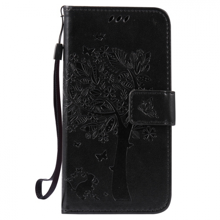 Huawei GR3 Case,Premium PU Leather Flip Wallet Case Cover (black) For Huawei GR3