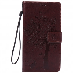 Huawei Ascend Mate 8 Case,Premium PU Leather Flip Wallet Case Cover (Dark brown) For Huawei Ascend Mate 8