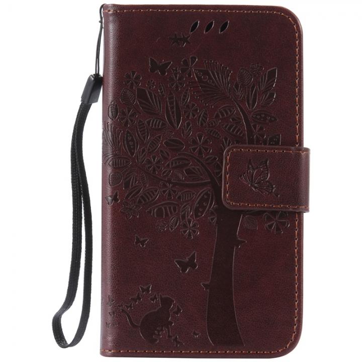 size 40 d2fd1 6d0fa Samsung Galaxy Avant G386F G386T Case,Premium PU Leather Flip Wallet Case  Cover (Dark brown) For Samsung Galaxy Avant G386F G386T