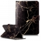 iPad Mini 4 Case,PU Leather Magnetic Closure Cover with Cash Pocket/Card Solts (black gold) For iPad Mini 4