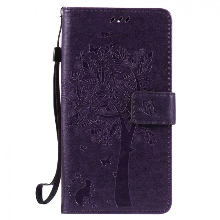 OnePlus 3 Case,Premium PU Leather Flip Wallet Case Cover (purple) For OnePlus 3