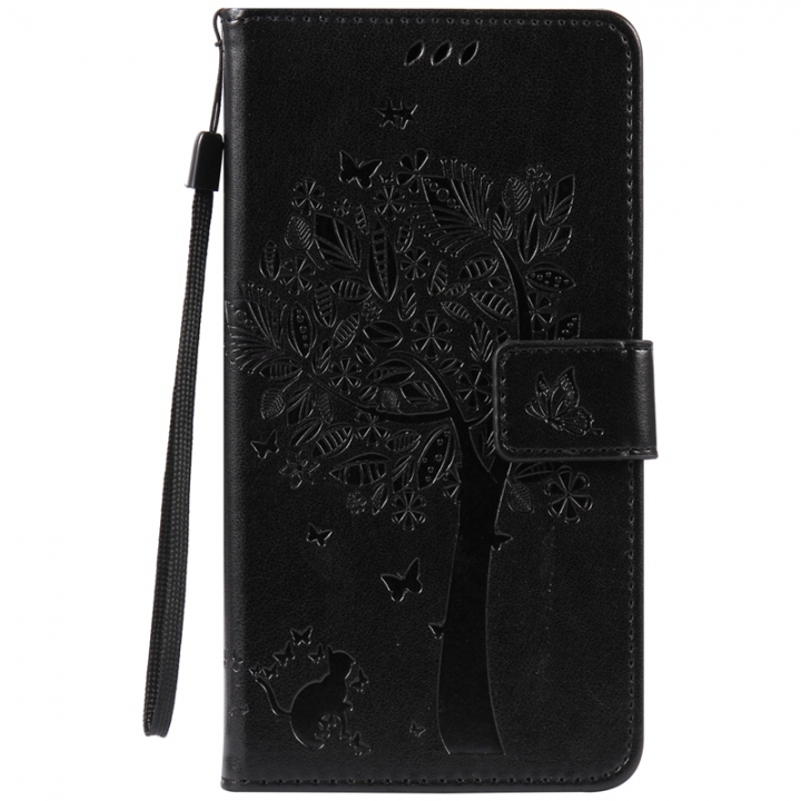 Huawei Y6 2 / Honor 5A Case,Premium PU Leather Flip Wallet Case Cover (black) For Huawei Y6 2 / Honor 5A