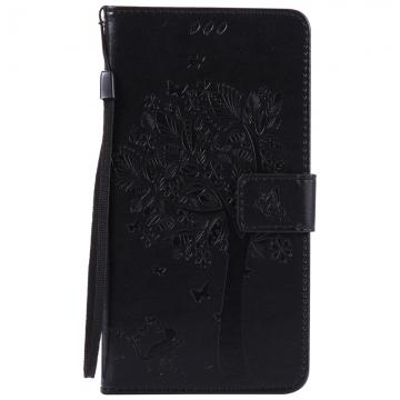 Huawei Ascend Mate 8 Case,Premium PU Leather Flip Wallet Case Cover (black) For Huawei Ascend Mate 8