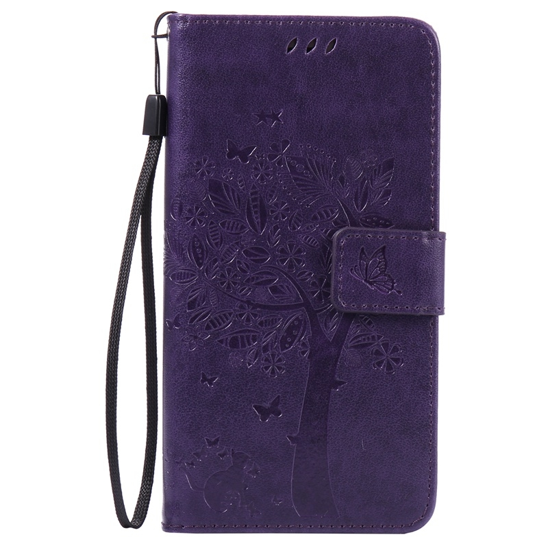the latest fdc6c 9f889 Huawei P9 Lite Case,Premium PU Leather Flip Wallet Case Cover (purple) For  Huawei P9 Lite