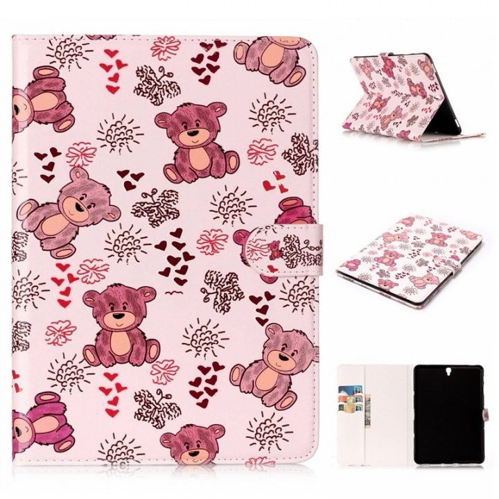 """Galaxy Tab S3 9.7 Case,PU Leather Wallet Auto Sleep/Wake for Samsung Galaxy Tab S3 9.7"""" SM-T820/T825 (pattern8 ) For Galaxy Tab S3 9.7 Inch 2017 Tablet SM-T820/T825"""