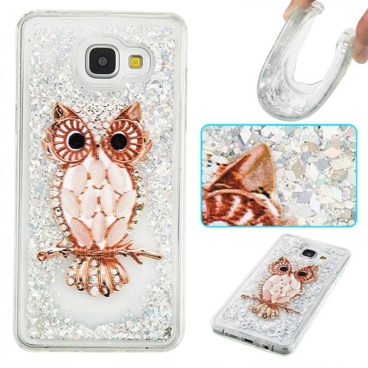 Samsung Galaxy A510/A5 2016 Case,Liquid Quicksand Transparent Soft TPU Silicone Case  (pattern 8) For Galaxy A510/A5 2016