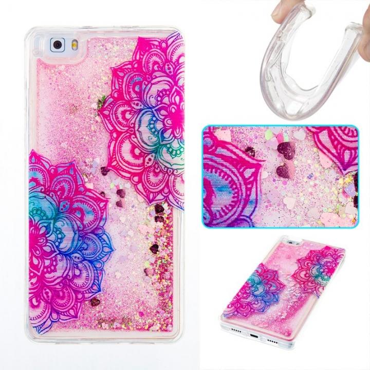 Huawei P8 Lite Case,Liquid Quicksand Transparent Soft TPU Silicone Case  (pattern 7) For Huawei P8 Lite