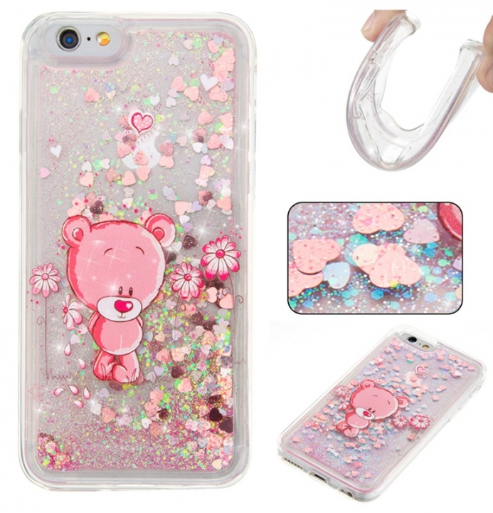 Iphone 6/6S Case,Liquid Quicksand Floating Clear Soft TPU Protective Cover (pattern 8) For Iphone 6/6S