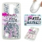 LG K7 K8 Case,Liquid Quicksand Floating Clear Soft TPU Protective Cover (pattern 2) For LG K7 K8