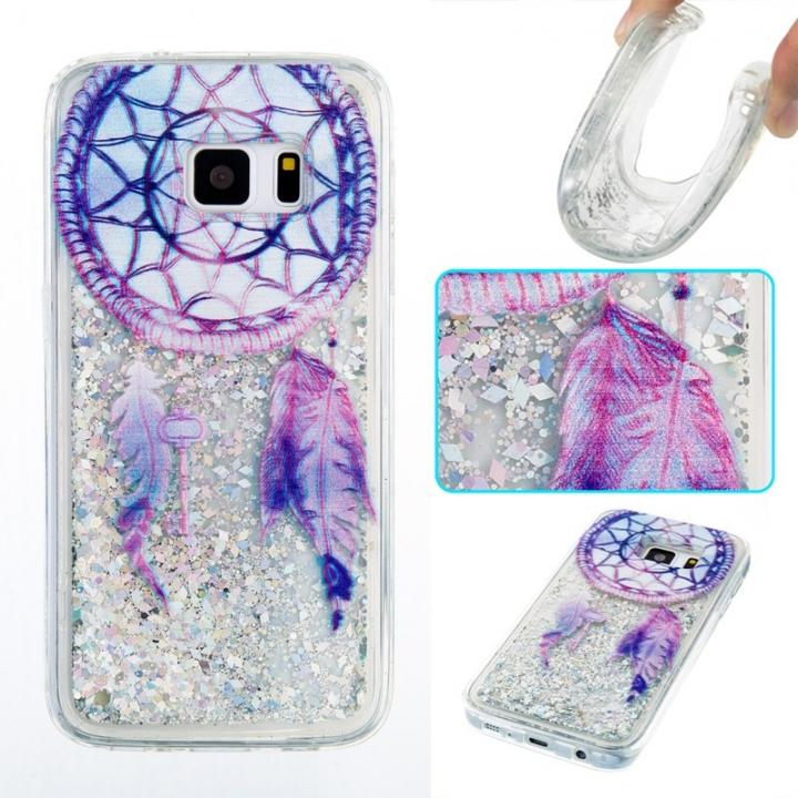 Samsung Galaxy S7 Case,Liquid Quicksand Transparent Soft TPU Silicone Case  (pattern 6) For Samsung Galaxy S7