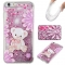 Iphone 6 plus Case,Liquid Quicksand Floating Clear Soft TPU Protective Cover (pattern 4) For Iphone 6 plus