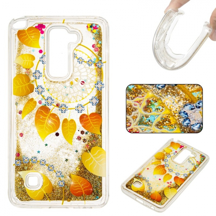 LG LS775 Case,Liquid Quicksand Floating Clear Soft TPU Protective Cover (pattern 9) For LG LS775