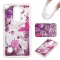 LG LS775 Case,Liquid Quicksand Floating Clear Soft TPU Protective Cover (pattern 5) For LG LS775