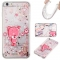 Iphone 6 plus Case,Liquid Quicksand Floating Clear Soft TPU Protective Cover (pattern 8) For Iphone 6 plus