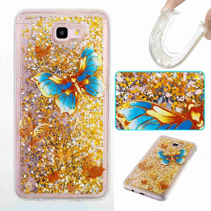 Galaxy J7 Prime / On7 2016 Case,Liquid Quicksand Transparent Soft TPU Silicone Case  (pattern 3) For Galaxy J7 Prime / On7 2016