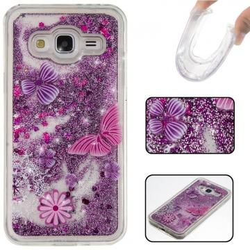 Samsung Galaxy J3/J310 Case,Liquid Quicksand Floating Clear Soft TPU Protective Cover (pattern 5) For Samsung Galaxy J3/J310