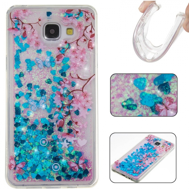 Samsung Galaxy A510/A5 2016 Case,Liquid Quicksand Floating Clear Soft TPU Protective Cover (pattern 10) For Galaxy A510/A5 2016