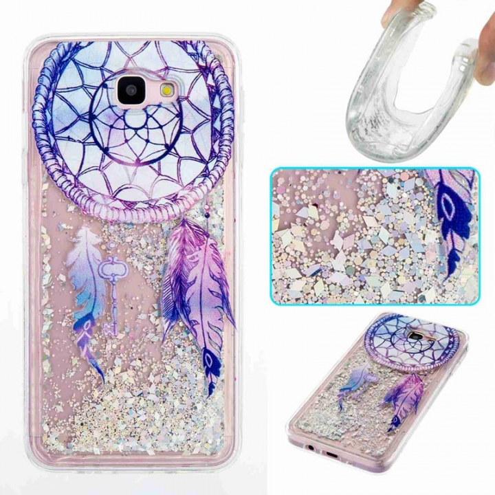 Galaxy J5 Prime / On5 2016 Case,Liquid Quicksand Transparent Soft TPU Silicone Case  (pattern 6) For Galaxy J5 Prime / On5 2016