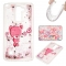 LG LS775 Case,Liquid Quicksand Floating Clear Soft TPU Protective Cover (pattern 8) For LG LS775
