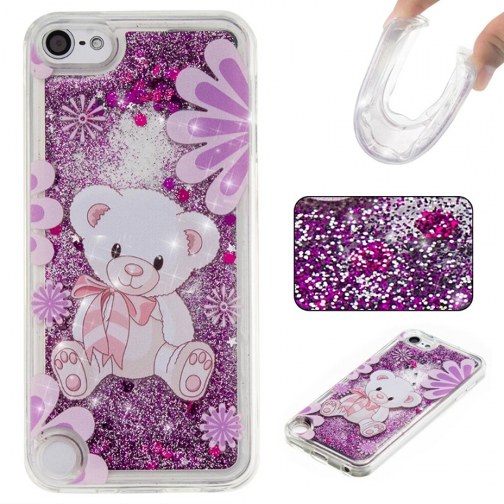 Apple iPod Touch 5/6 Case,Liquid Quicksand Floating Clear Soft TPU Protective Cover (pattern 4) For Apple iPod Touch 5/6