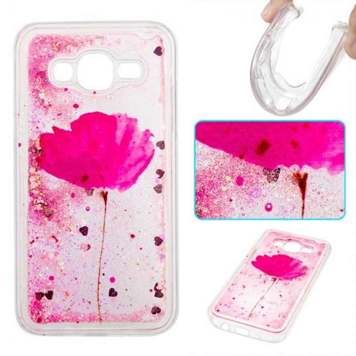 Samsung Galaxy J5 2015 Case,Liquid Quicksand Transparent Soft TPU Silicone Case  (pattern 5) For Samsung Galaxy J5 2015