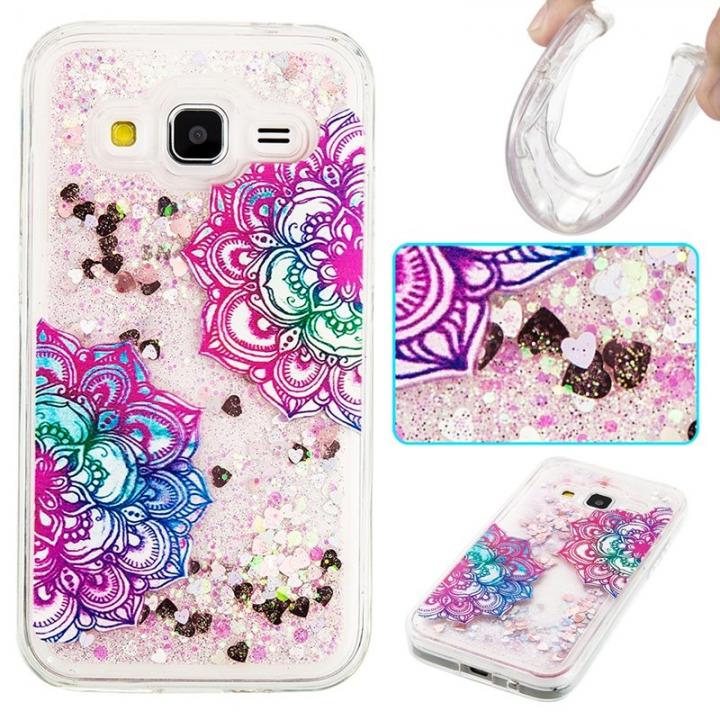 Samsung Galaxy Core Prime G360 Case,Liquid Quicksand Transparent Soft TPU Silicone Case  (pattern 7) For Galaxy Core Prime G360