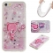 Iphone 5S 5C SE Case,Liquid Quicksand Floating Clear Soft TPU Protective Cover (pattern 8) For Iphone 5S 5C SE