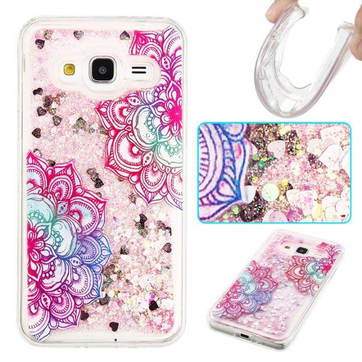 Samsung Galaxy J3/J310 Case,Liquid Quicksand Transparent Soft TPU Silicone Case  (pattern 7) For Samsung Galaxy J3/J310