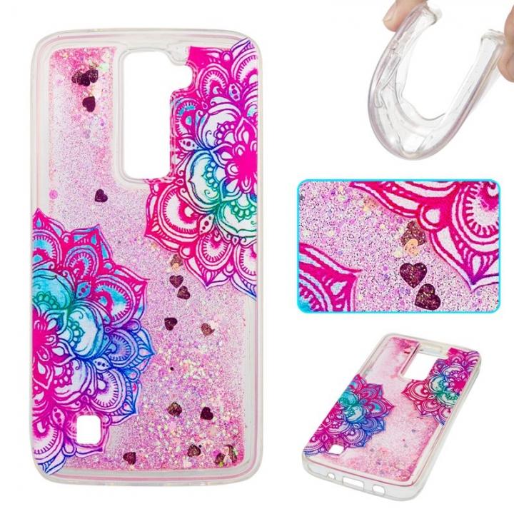 LG K7 / LG K8 Case,Liquid Quicksand Transparent Soft TPU Silicone Case  (pattern 7) For LG K7 / LG K8