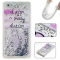 Huawei P8 Lite Case,Liquid Quicksand Floating Clear Soft TPU Protective Cover (pattern 2) For Huawei P8 Lite