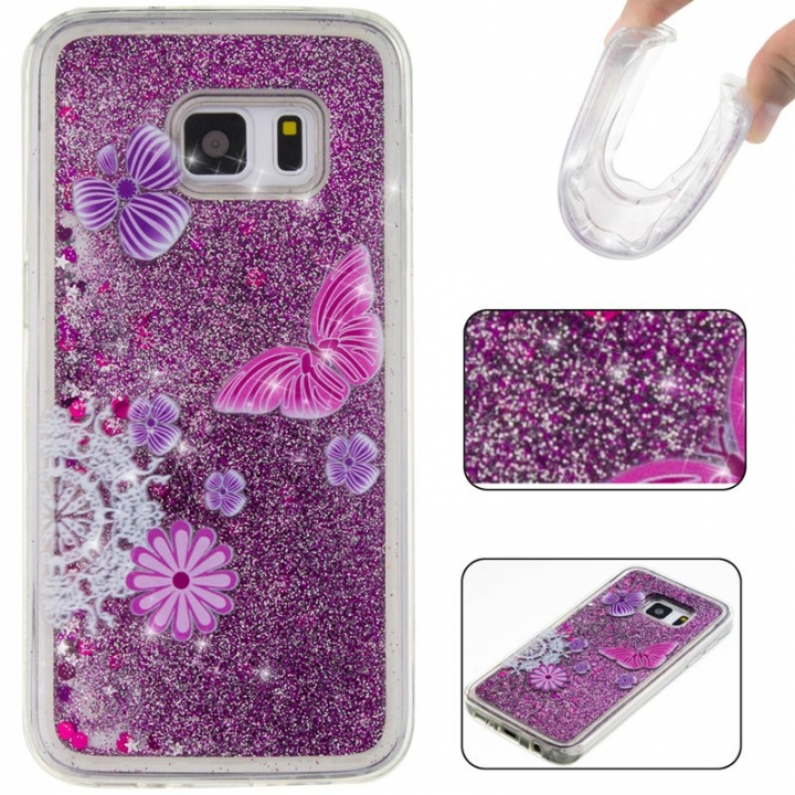 Samsung Galaxy S7 Case,Liquid Quicksand Floating Clear Soft TPU Protective Cover (pattern 5) For Samsung Galaxy S7