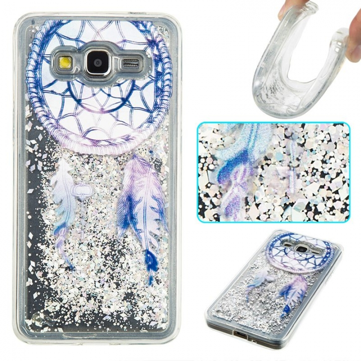 Samsung Galaxy Grand Prime G530 Case,Liquid Quicksand Transparent Soft TPU Silicone Case  (pattern 6) For Galaxy Grand Prime G530