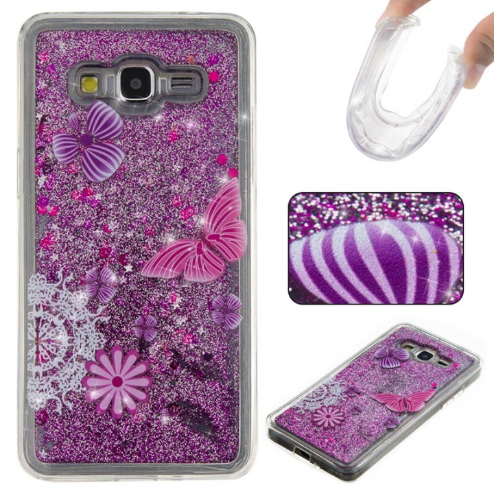 Samsung Galaxy Grand Prime G530 Case,Liquid Quicksand Floating Clear Soft TPU Protective Cover (pattern 5) For Samsung Galaxy Grand Prime G530