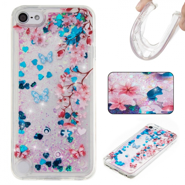 Apple iPod Touch 5/6 Case,Liquid Quicksand Floating Clear Soft TPU Protective Cover (pattern 10) For Apple iPod Touch 5/6